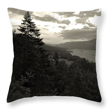 After Sunset On The Columbia Throw Pillow