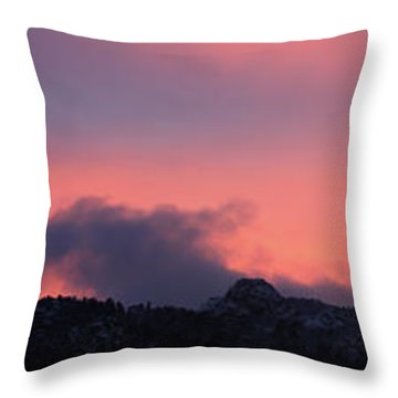 After Sunset - Panorama Throw Pillow