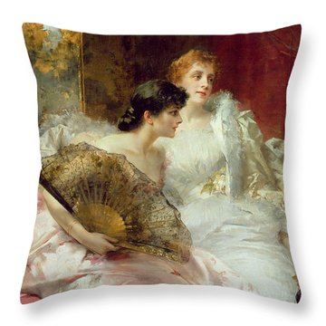 After The Ball Throw Pillow by Conrad Kiesel