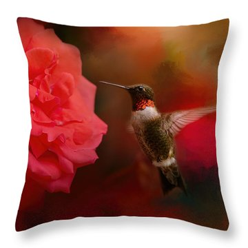After The Big Rose Throw Pillow