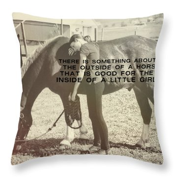 After The Competition Quote Throw Pillow