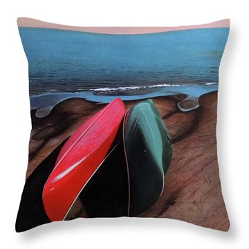 Throw Pillow featuring the painting After The Crossing by Kenneth M Kirsch