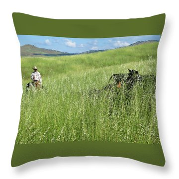 After The Drought Throw Pillow
