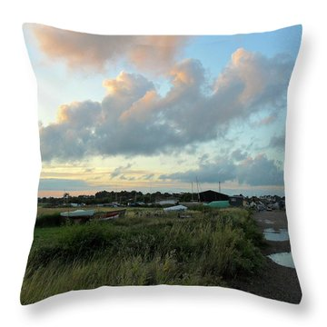 Throw Pillow featuring the photograph After The Rain by Anne Kotan