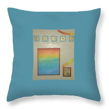 Throw Pillow featuring the painting After The Rain by Bernard Goodman