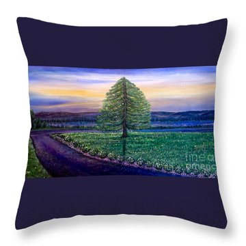 After The Rain Comes The Joy Throw Pillow