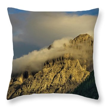 After The Rain In The Austrian Alps. Throw Pillow