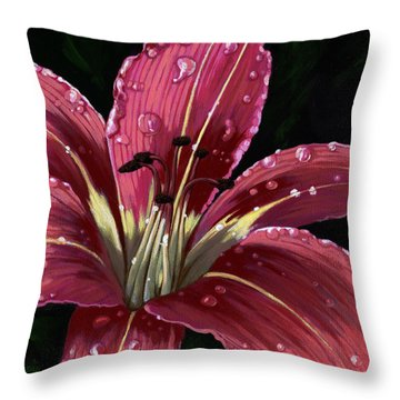 After The Rain - Lily Throw Pillow