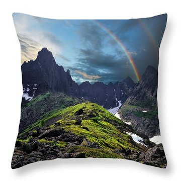 After The Rain Storm Throw Pillow