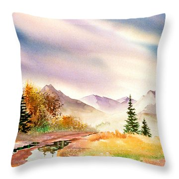 Throw Pillow featuring the painting After The Rain by Teresa Ascone