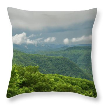Throw Pillow featuring the photograph After The Rain - The Bluestone Gorge At Pipestem State Park by Kerri Farley