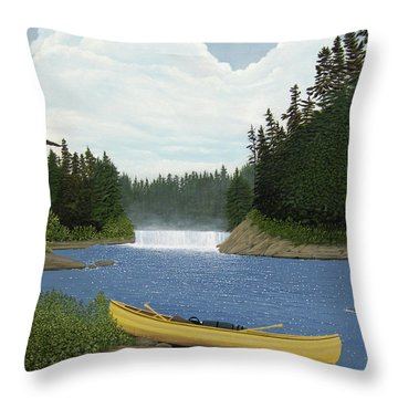 After The Rapids Throw Pillow