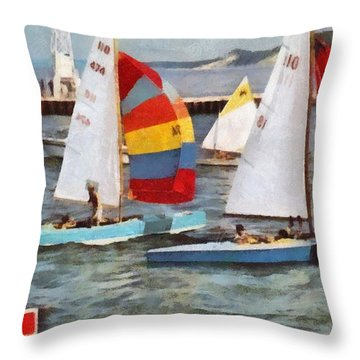 After The Regatta  Throw Pillow