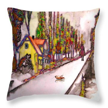 After The Showdown Throw Pillow