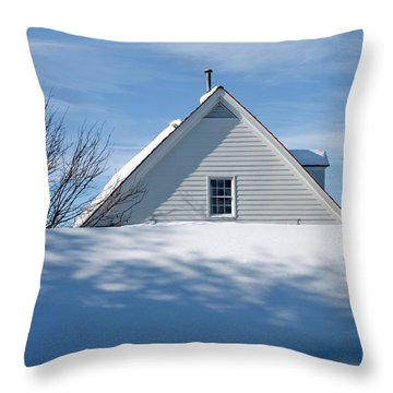 After The Snowfall Throw Pillow