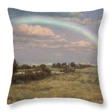After The Storm Throw Pillow by Albert Bierstadt