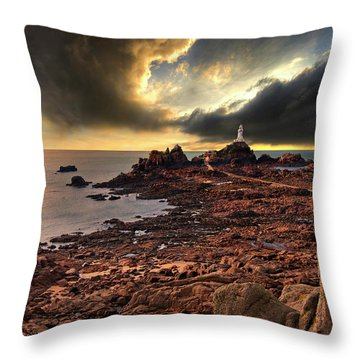 after the storm at La Corbiere Throw Pillow