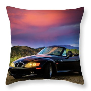 After The Storm - Bmw Z3 Throw Pillow