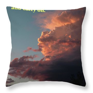 After The Storm Carry On Throw Pillow by DeeLon Merritt