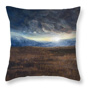 After The Storm - Cool Tone Throw Pillow