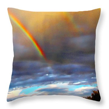 After The Storm El Valle New Mexico Throw Pillow