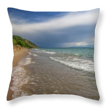 Throw Pillow featuring the photograph After The Storm by Heather Kenward