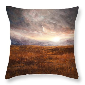 After The Storm - Warm Tones Throw Pillow