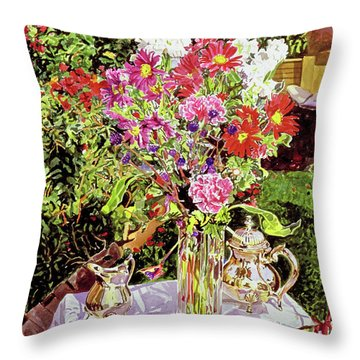 After The Tea Party Throw Pillow