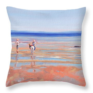 After The Walk - Whiting Bay Throw Pillow
