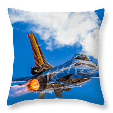 Afterburn Throw Pillow by Ian Schofield