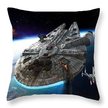 Afterburn Throw Pillow by Kurt Miller