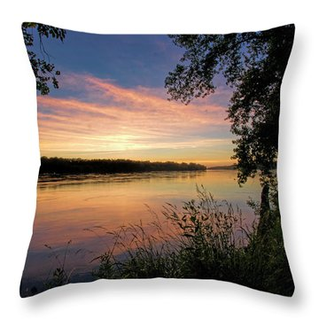 Throw Pillow featuring the photograph Afterglow by Cricket Hackmann