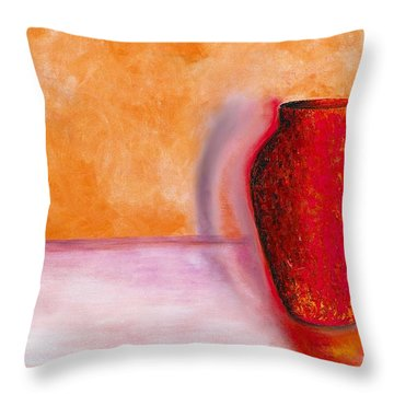 Throw Pillow featuring the painting Afterglow by Marlene Book