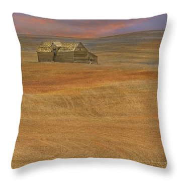 Afterglow On The Palouse Throw Pillow