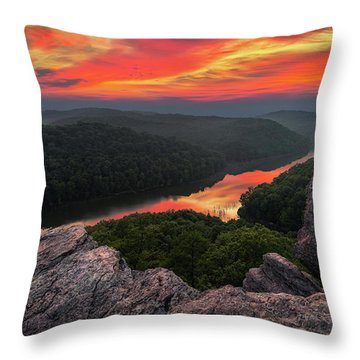 Afterglow Reflections Throw Pillow