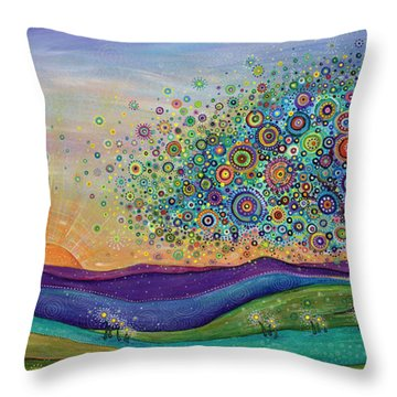 Afterglow - This Beautiful Life Throw Pillow by Tanielle Childers