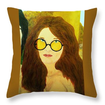 Afterlife Concerto Janis Joplin Throw Pillow