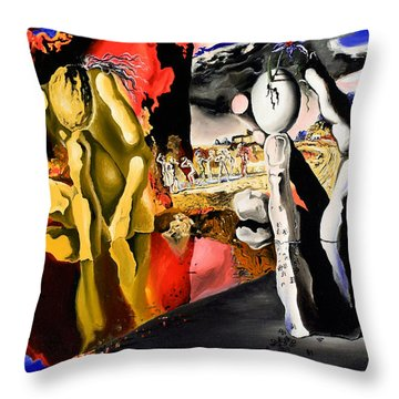 Aftermath Of Narcissus - After Dali- Throw Pillow by Ryan Demaree