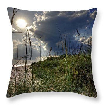 Throw Pillow featuring the photograph Afternoon At A Sanibel Dune by Chrystal Mimbs