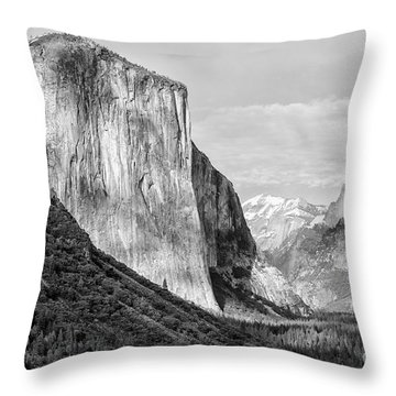 Throw Pillow featuring the photograph Afternoon At El Capitan by Sandra Bronstein