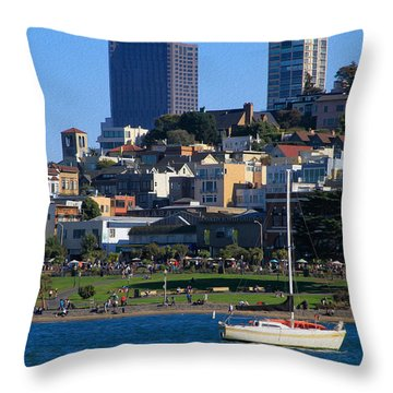 Afternoon At Maritime Park Throw Pillow