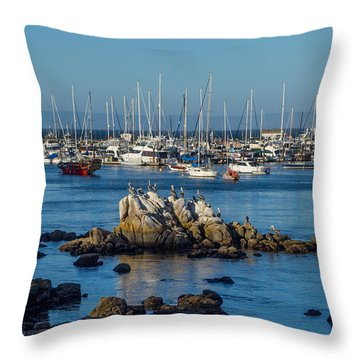 Afternoon At The Breakwater Throw Pillow
