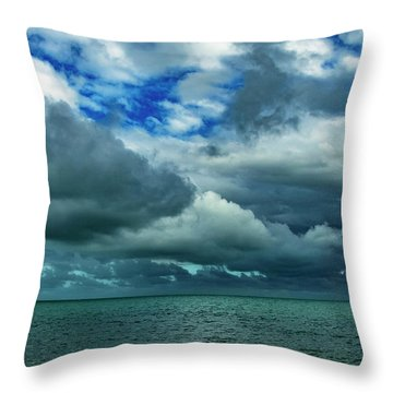 Throw Pillow featuring the photograph Afternoon Clouds In Key West, Florida by Bob Slitzan