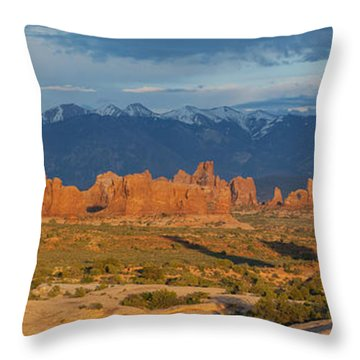 Afternoon In Arches National Park Throw Pillow by Aaron Spong