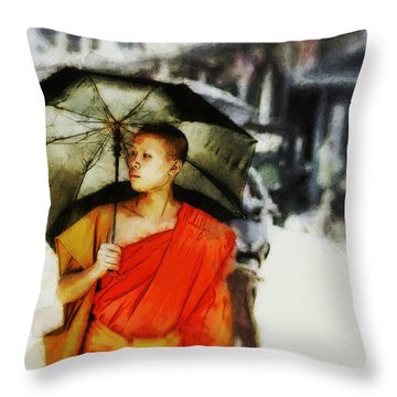 Afternoon In Luang Prabang Throw Pillow by Cameron Wood