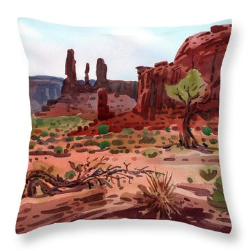 Afternoon In Monument Valley Throw Pillow