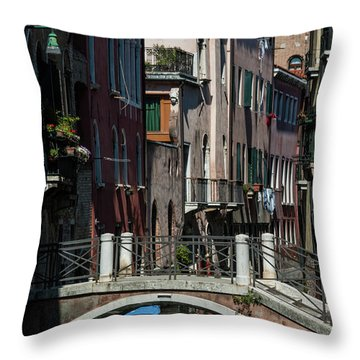 Throw Pillow featuring the photograph Afternoon In Venice by Alex Lapidus