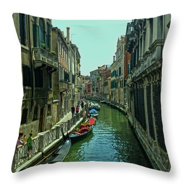 Throw Pillow featuring the photograph Afternoon In Venice by Anne Kotan
