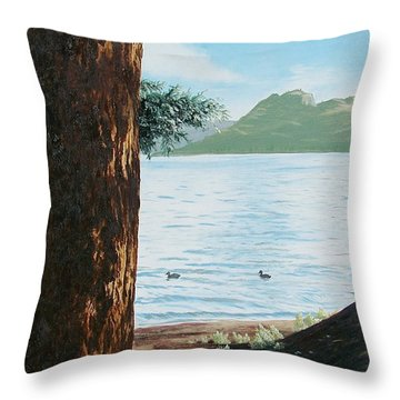 Afternoon Invitation Throw Pillow