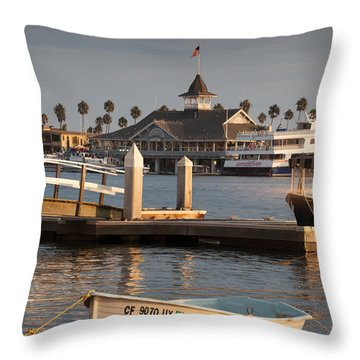Afternoon Light Balboa Island Throw Pillow
